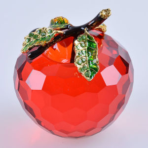 Beautiful Crystal Glass Apple Crafts for Decoration Gift pictures & photos