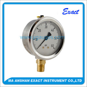 All Stainless Steel Dial Liquid Filled Air Pressure Gauge pictures & photos