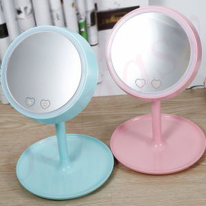 2016 New 2 in 1 Rechargeable Lighted Ladies Makeup Mirror with LED Light Several Color LED Makeup Mirror Lamp pictures & photos