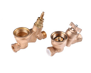 CNC Machining Bronze Coaxial Meter Body pictures & photos