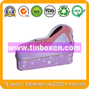 Gift Tin Box with Shoes Shape, Metal Gift Can pictures & photos