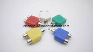 RCA Plug, RCA Plug to 2RCA Jacks with Colors pictures & photos