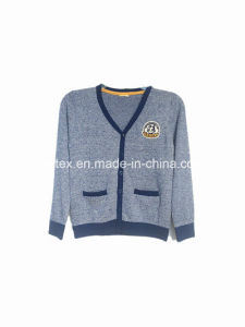 V-Neck Fashion Knitting Sweater for Women pictures & photos