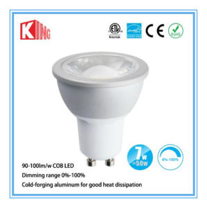 GU10 LED Lighting Spot COB 7W Dimmable 630lm 36degree pictures & photos