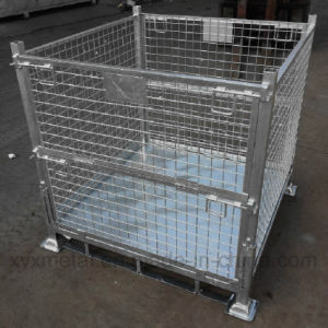 Industrial Warehouse Storage Folded Steel Roll Wire Mesh Stillage Cage pictures & photos