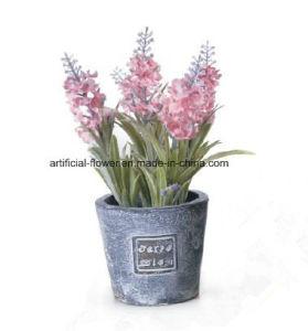 Artificial Lavender Flower, Plastic White Lavender Bush