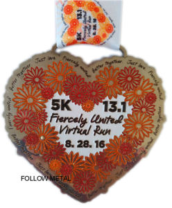 Medal for Sp Half Marathon with Matt Nickel. Running Race pictures & photos
