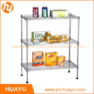 Factory Price Top High Quality 3 Tier Metal Shelving Wire Shelf Storage Rack pictures & photos
