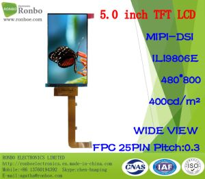 "5.0""480X800 Mipi TFT LCD Screen, Ili9806e, 25pin for POS, Doorbell, Medical pictures & photos"