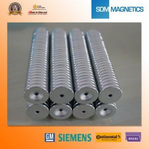 ISO/Ts 16949 Certificated Permanent Neodymium Countersunk Magnets pictures & photos