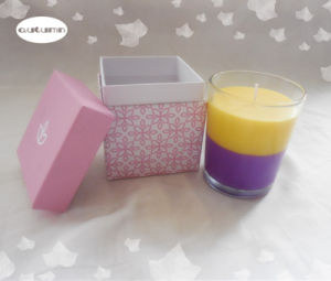 Colored Mix Wax Romantic Candle/7.5 * 9 Cm Glass Jar Candle Scented pictures & photos