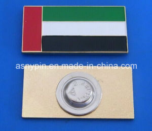 Hotsale in Stock UAE National Day Rectangle Magnetic Flag Badge pictures & photos
