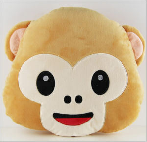 New Design Cute PP Cotton Filling Monkey Emoji Pillow pictures & photos