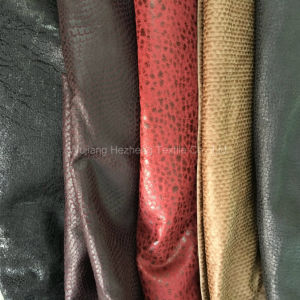 Bronzing Plain Micro Fibre Suede Fabric for Coverred Sofa Chair pictures & photos