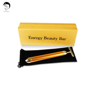 Hot Sale 24k Golden Beautiful Bar Vibrator Massage Beauty Equipment pictures & photos