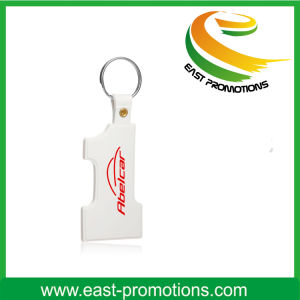 Promotional Geometric Figure Plastic Keychain pictures & photos