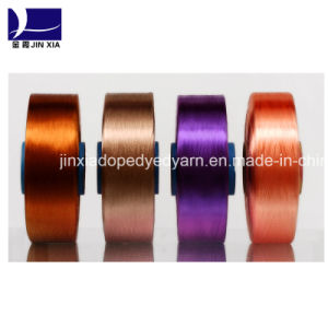 Polyester Filament Yarn 50d/36f FDY Dope Dyed Micro Filament pictures & photos