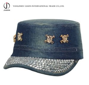 Cotton Military Cap Fidel Cap Fashion Cap Leisure Cap Baseball Sports Cap Rhinestone Cap pictures & photos