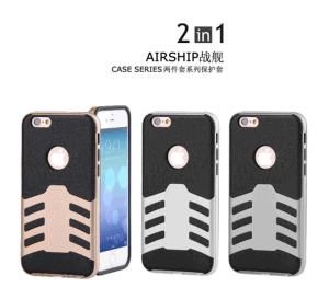 Shock Proof 2 in 1 Airship Case for iPhone Heavy Duty PC + TPU Shell Protective Case pictures & photos