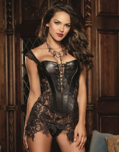 Beyonce Faux Leather Corset pictures & photos