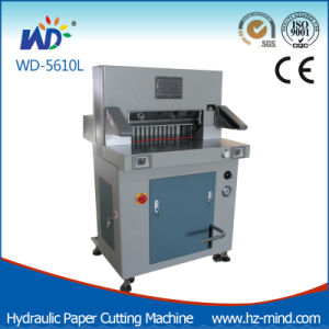 (WD-6810L) Heavy Duty 10cm Cutting Thickness Hydraulic Cutting Machine Paper Machine pictures & photos