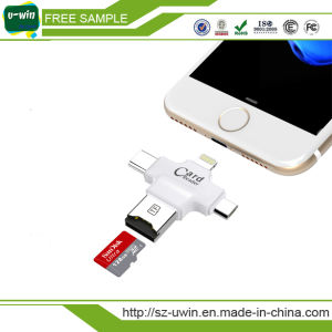 Multifunction Card Reader 4 in 1 USB Flash Drive with Type-C /USB Flash Drive/Android Port pictures & photos