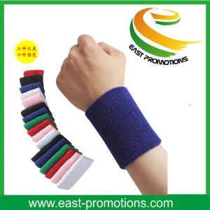 Design Logo Comfortable Protection Wrist Sweatband for Sports pictures & photos
