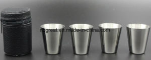 Hot Sale Stainless Steel 70ml Liqueur Cup for Outdoors (4 PCS) pictures & photos