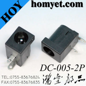 High Quality 2p Black DC Power Jack pictures & photos