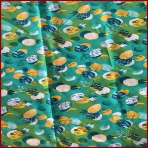 Pineapple Printed Green Color Microfiber Peach Skin pictures & photos