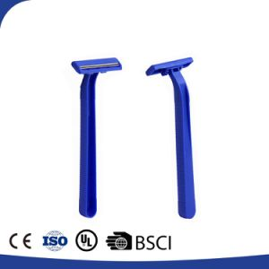 Twin Stainless Steel Blade Disposable Plastic Razor (YYR-001) pictures & photos