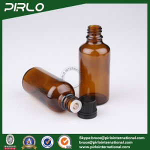 50ml Amber Glass Bottles with Tamper Evident and Black Screw Cap pictures & photos