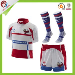 Dry Fit Cheap Wholesale Sublimated Custom Rugby Jersey Design pictures & photos