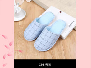 Lattice Winter Indoor Nice Soft Slipper for Men and Wonmen pictures & photos