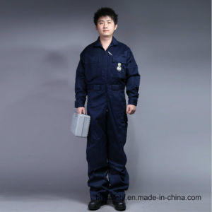 65% Polyester 35%Cotton Zip Front Long Sleeve Safety Coverall Uniform (BLY1015) pictures & photos