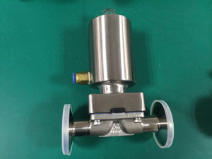 Full Stainless Steel Pneumatic Diaphragm Valve Clamp End, Sanitary Diaphragm Valve pictures & photos