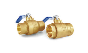 """2 1/2""""Cupc NSF Standards Iron Handle Forging Lf Lead Free Material Full Port 400wog Brass Ball Valves pictures & photos"""