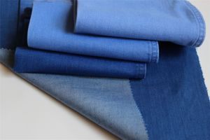 Mercerized Cotton Polyester Spandex Denim in new color pictures & photos