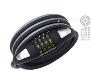 Durable New 4 Digital Code Combination Bicycle Cable Lock (HLK-013) pictures & photos