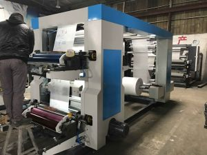 Helical Gear 4 Colors Flexo Printing Machine for PE BOPP Film (NX-A1000) pictures & photos