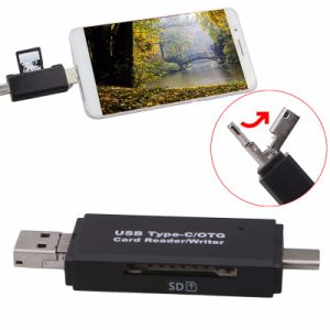 Multi Type C USB 3.0 Micro USB OTG Card Reader pictures & photos