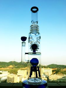 Adustable Honeycomb Roll Ball Birdcage Shower Tobacco Glass Smoking Water Pipe High Quality Recycler Tobacco Tall Color Bowl Glass Craft Ashtray Glass Pipes pictures & photos