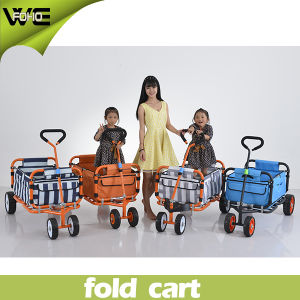 Premium Quality Utility Folding Shopping Cart with 4 Wheels pictures & photos