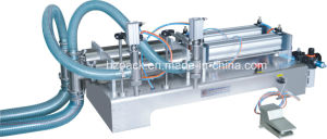Pneumatic Double Heads Water Filling Machine/Paste Filler/Paste Filling Machine pictures & photos