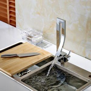 Kitchen Bar Sink Faucet Deck Mounted Mixer Taps Chrome pictures & photos