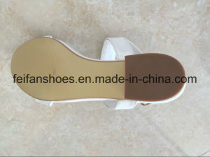 Women Sandals Casual Shoes PU Shoes (FFSD-01) pictures & photos