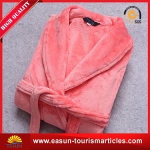 Unisex Long Sleeve Thick Warm Velour Bathrobe pictures & photos