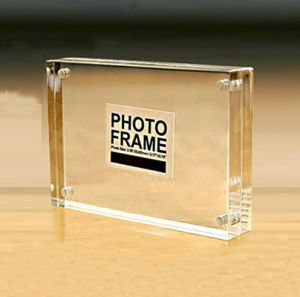 Wholesale Custom Shape Magnetic Acrylic Frame Photo Block pictures & photos