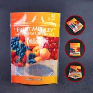 Customer Print Fruit Plastic Bag Zipper Lock Bag Round Bottom Stand up Pouch pictures & photos