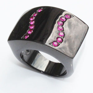 Zircon 316L Stainless Steel Jewelry Ring Popular in China pictures & photos